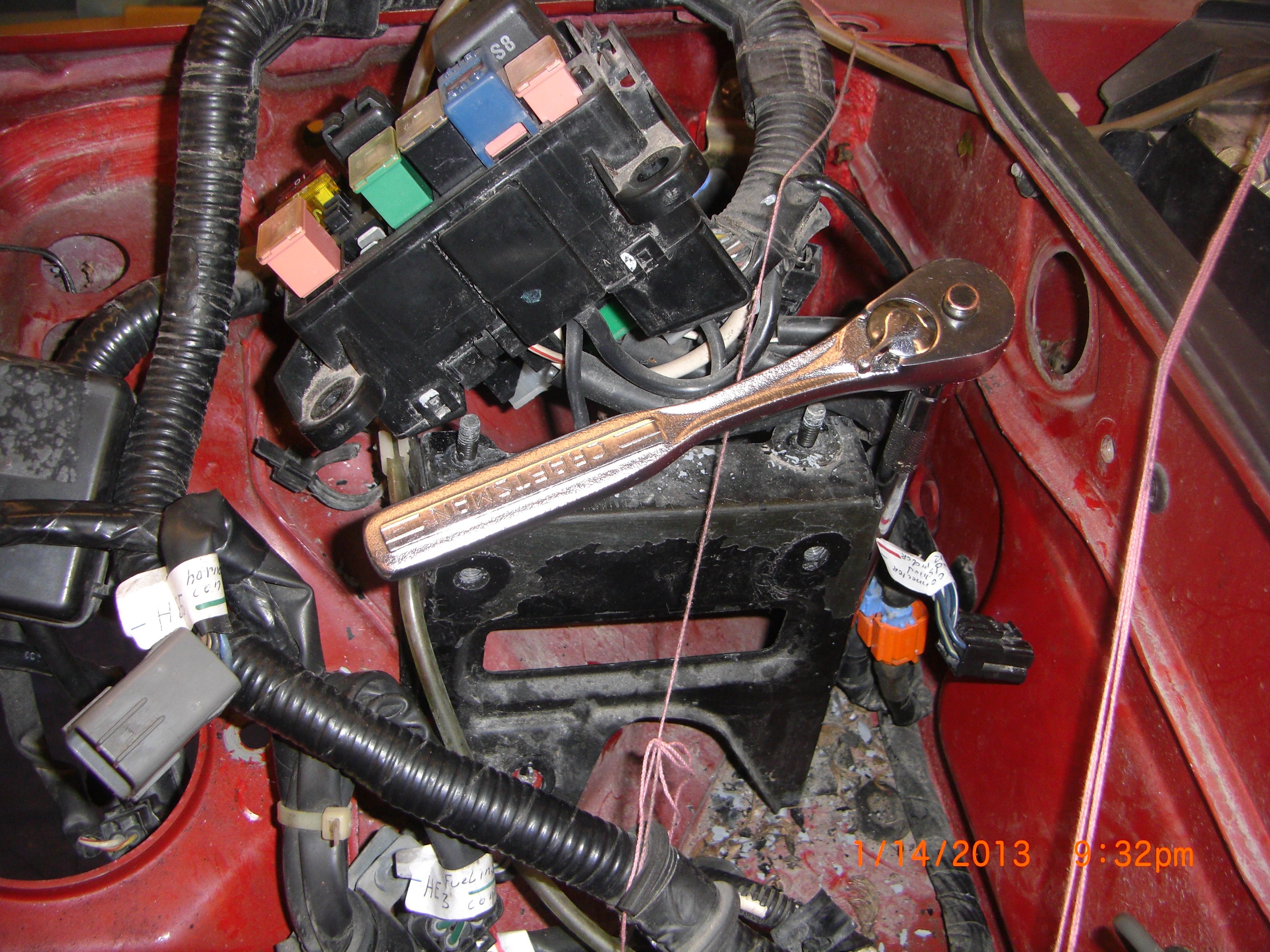 Removing Miata Donor Parts 5 Of 9how Do You Remove A Wire Wiring Harness Clips Removal Block Bracket To Access Grommet